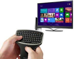 Combining the wireless remote and Windows 8 allows you to easily browse and enjoy the best web content and apps