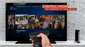 Combining the wireless remote and Windows 7 allows you to easily browse and enjoy the best web content