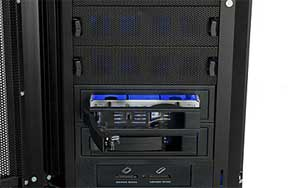The included hot-swap drive rack allows you to easily back-up or upgrade your storage.