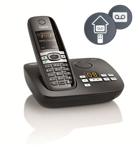 The C610A's integrated answering machine offers 45 minutes recording time and message retrieval from an external location