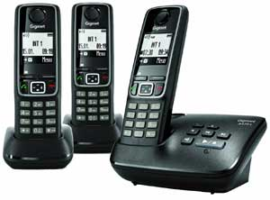 You can add up to four additional handsets to the A420A, allowing you to set up multiple calling stations throughout your home.