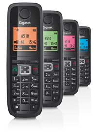 The large, well-spaced keys and clear, large font on the E500A handset display make this phone easy to use for all the family