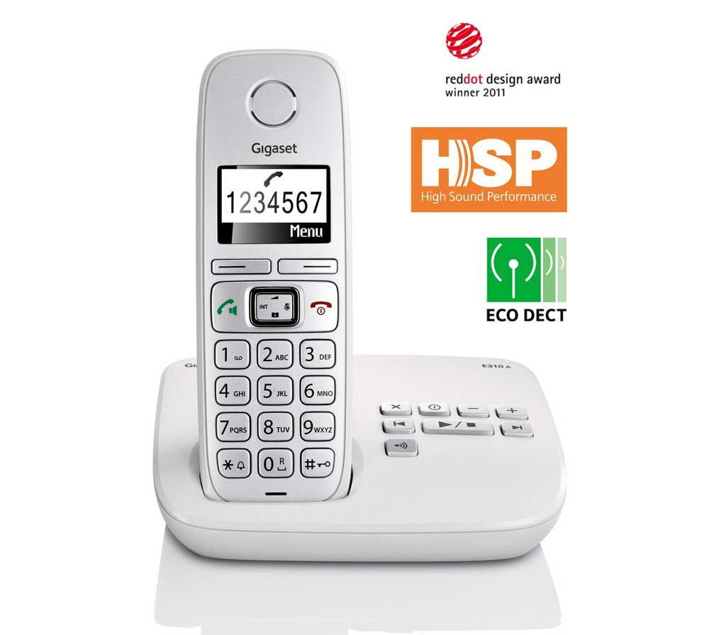 gigaset e310a twin dect cordless phone with answer amazon. Black Bedroom Furniture Sets. Home Design Ideas