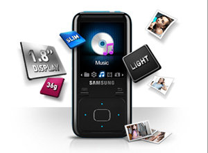 Samsung YP-Z3 Z3 Ruskin MP3 HD Player