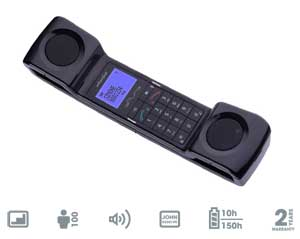 """Even though the ePure echoes traditional telephone designs, it also come with modern features such as a 1.4"""" backlit display."""