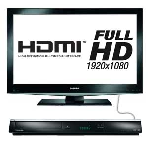 The Toshiba DR20 upscales your standard definition DVDs into Full HD 1080p via HDMI