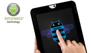 Optimised for tablets, Android 3.1 Honeycomb lets you choose from thousand of apps.