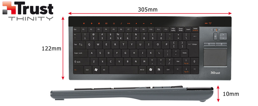 Trust Thinity Wireless Entertainment Keyboard 17338