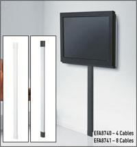 Vogel 39 s vfw 132 supporti tv tipo elettronica for Nascondere cavi tv