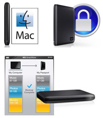 Western Digital My Passport for Mac 500GB USB 2 0 Hard Drive - Charcoal