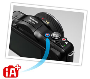 Capture great photos from the very first shot with iA+ (Intelligent Auto Plus) mode