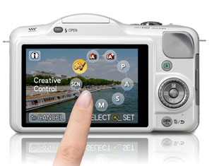 The GF3X has smart, easy touch-screen control