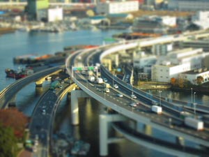 L'effet Miniature transforme vos paysages en maquettes