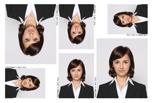 Print multiple ID photos in the same or different sizes