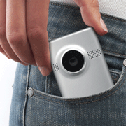 Pocket-sized design means you can take your MinoHD with you everywhere you go