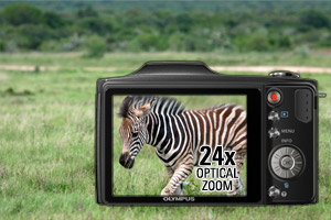 24x wide optical zoom for photo flexibility