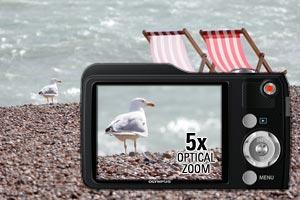 5x wide optical zoom