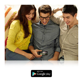 Download games and apps through the Google Play store.