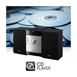 Crystal clear playback with built in CD Player