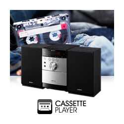 Don't miss out on your old favourites with built in Cassette deck