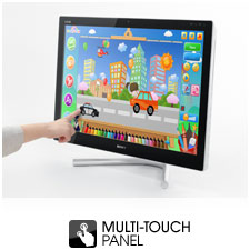 With a ten point multi-touch panel, you can use every single finger at the same time.