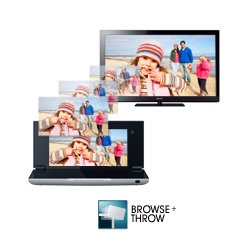 """Grab your personal music, video or pictures and """"throw"""" them to an internet connected television, hi-fi or photo frame"""