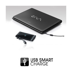 Just plug in your phone via USB for a handy charge top-up - even when the computer is switched off or in sleep mode.