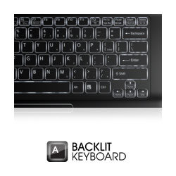 Individually backlit keys are perfect for comfortable error-free typing, even in low light.*