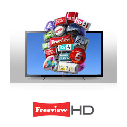 The built-in Freeview HD tuner means you can enjoy more channels in stunning pin-sharp clarity, totally free.**