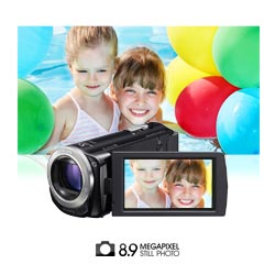 TCapture high quality 8.9 megapixel photos.