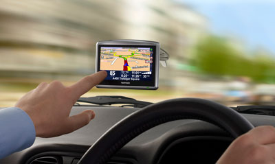 tomtom one in car