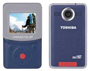 Compact and rugged, the CAMILEO CLIP features a 3.8 cm LCD screen