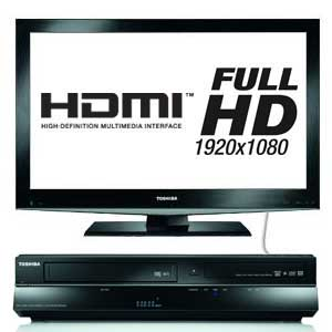 The Toshiba RDXV60 upscales your standard definition DVDs into Full HD 1080p via HDMI