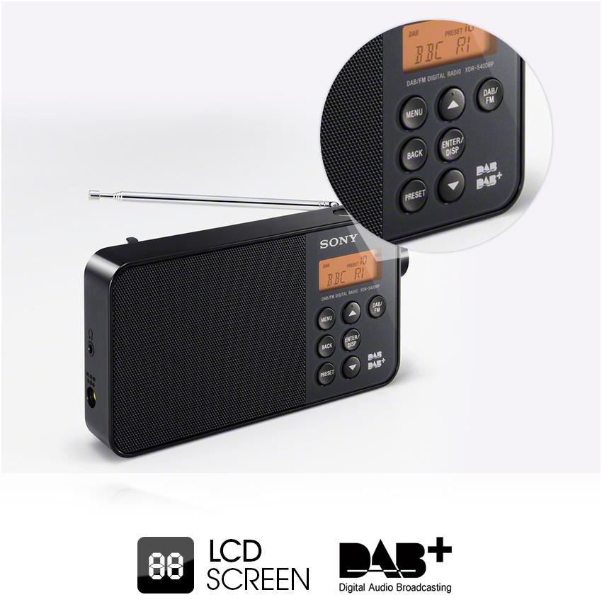 sony xdrs40 dab dab fm ultra compact digital radio. Black Bedroom Furniture Sets. Home Design Ideas