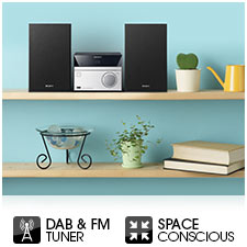 Sleek, compact design, ideal for smaller rooms