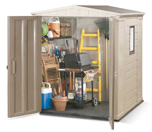 keter gemini factor plastic garden shed with double doors and