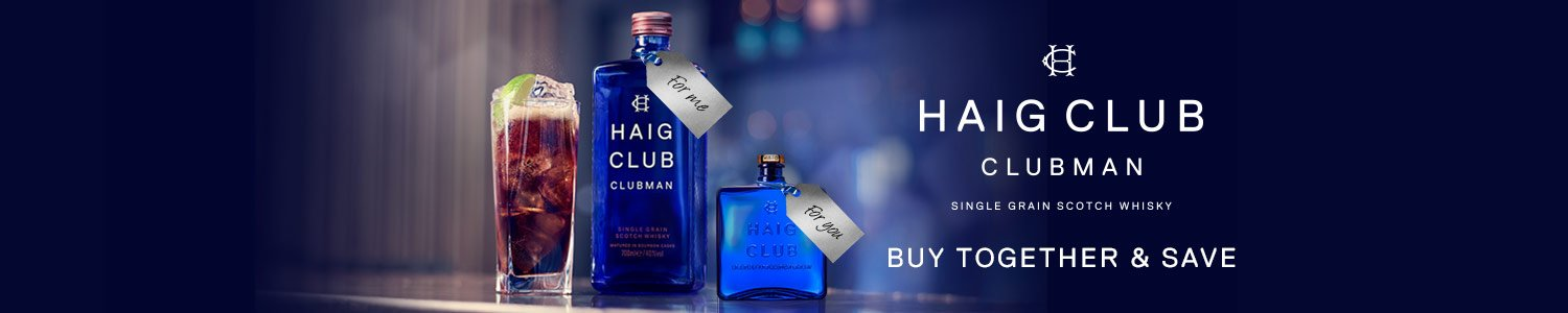 Haig Club - one for me, one for you