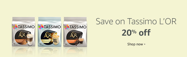 Save 20% on Tassimo L'OR