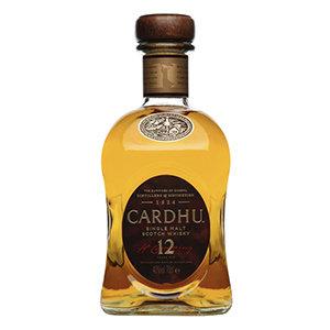 Cardhu 12 Year Old Whisky Bottle Visual