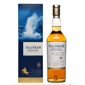 Talisker 18 Year Old bottle and pack visual