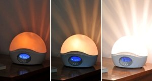 Bodyclock Active 250 wakes you up with gradually brightening light