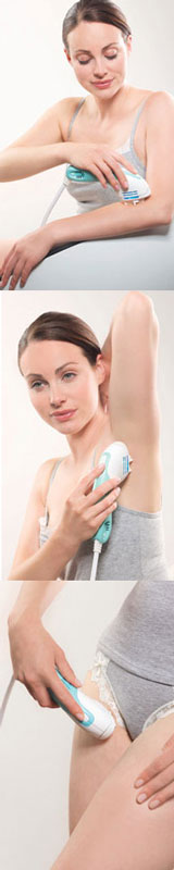IPL can be used on the underarms, arms and legs and bikini line