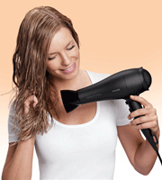 Philips HP8250 SalonDry Pro Black Hair Dryer with 2300