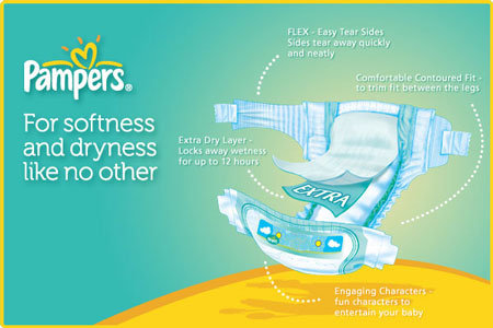 Pampers BaBy-Dry Features