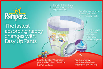 Pampers Easy Up Size 4 18 33 Lbs 8 15 Kg Training Pants