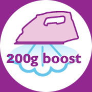 Steam boost up to 200 g/min