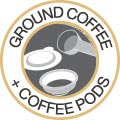 Ground Coffee + Coffee Pods