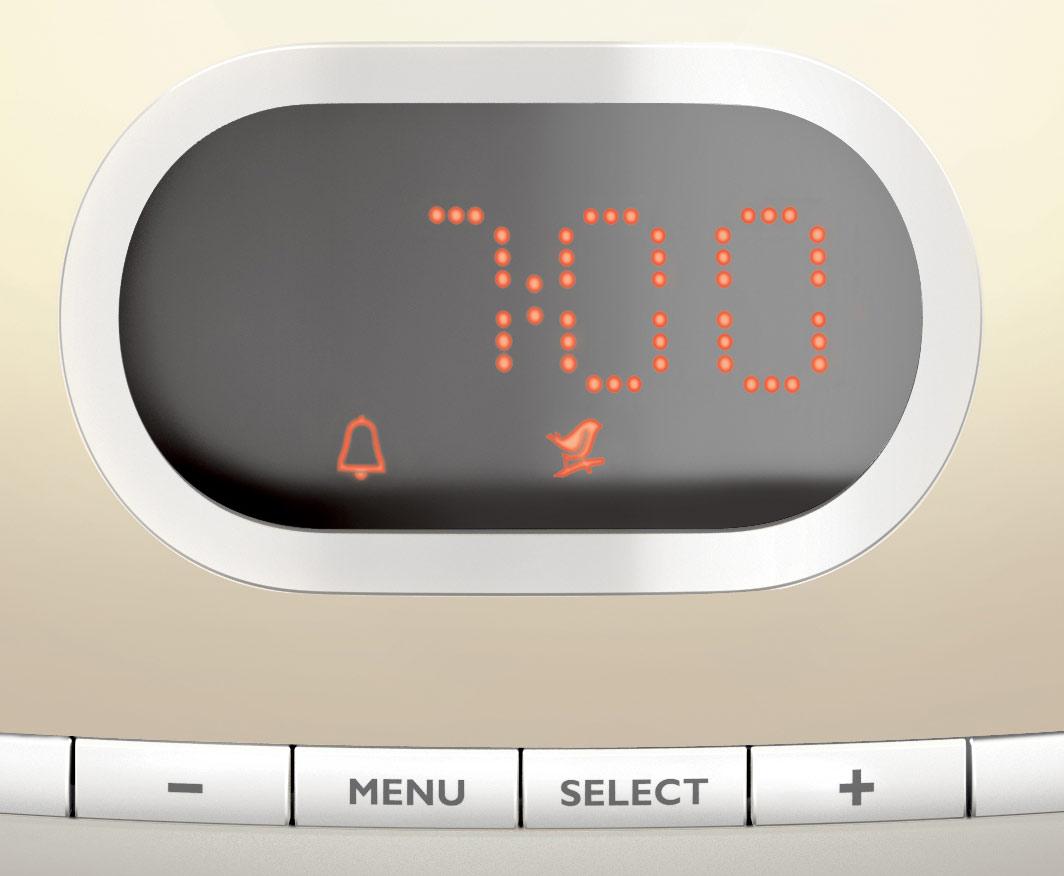 Philips Hf3465 Wake Up Light Alarm Clock With Lcd Display