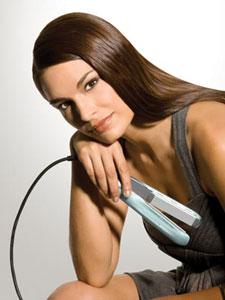 The Remington Shine Therapy hair straightener has shine-enhancing moisturisers