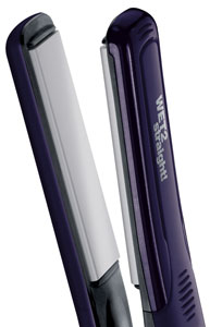 The Remington Wet2Straight hair straightener's plates with steam holes